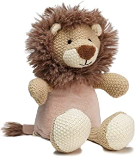 "WILD BABY Microwavable Plush Pal - Cozy Heatable Weighted Stuffed Animal with Aromatherapy Lavender Scent, 12"" Lion"