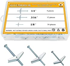 50-Pack Dottie TB43DS Toggle Bolt L.H Mushroom Head Zinc Plated 1//4-Inch-20 TPI by 3-Inch Length Slotted//Square