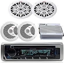 Kenwood Bluetooth USB CD Marine Boat Yacht Radio Stereo, 2 X 6x9