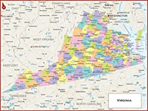 Best state map of virginia with counties Reviews