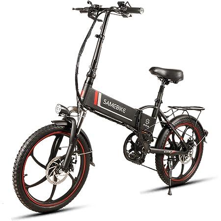 Samebike Bicicleta eléctrica plegable para adultos, 20 ...