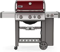 Weber 61032001 Genesis II E-330 3-Burner Liquid Propane Grill, Crimson