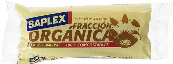 Saplex Fracción Orgánica Bolsas de Basura - 15 Unidades: Amazon.es ...
