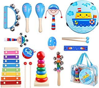 Kids Musical Instruments -Musical Instruments Wood Xylophone for Kids Children, Child Wooden Music Shakers Percussion Inst...