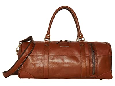 Florsheim Hawkin Leather Duffel Bag (Brown) Bags
