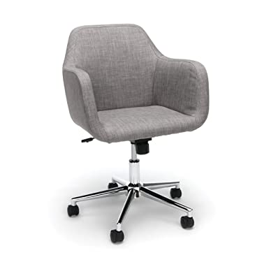OFM ESS Collection Upholstered Home Office Desk Chair, in Grey (ESS-2085-GRY)