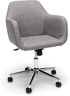 OFM Essentials Collection Upholstered Home Office Desk Chair, in Grey (ESS-2085-GRY)