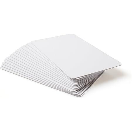 10 x NFC Visita le carte | NXP Chip NTAG215 | 504 byte di memoria | Biglietti da visita bianchi, PVC Rigido | elevata forza di scansione | Lo stesso chip con Tagmo Amiibo.