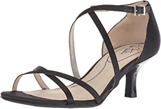 LifeStride Women's Flaunt Heeled Sandal, Black, 7 W US