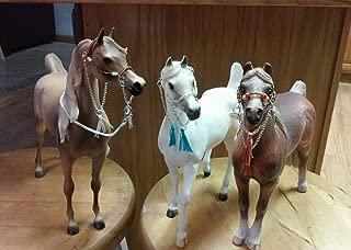 Breyer Peter Stone marx Johnny West horse custom three arabian halters and one lead