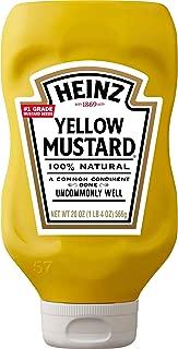 Heinz Yellow Mustard (20 oz Bottles, Pack of 20)
