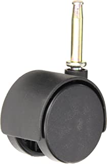 10 mm Diameter x 15 mm Length Threaded Stem 110 lb Capacity Range Twin Wheel Caster Solutions TWHN-50N-M31-BK-B 2 Diameter Nylon Wheel Hooded Brake Caster