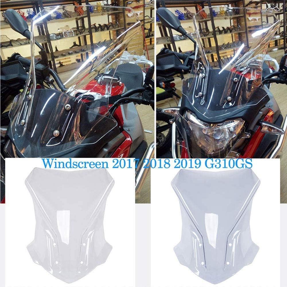 CUHAWUDBA Deflector de Pantalla de Parabrisas de Motocicleta Parabrisas Pare-Brise para G310Gs G 310Gs 2017 2018 2019 Accesorios de Motocicleta Claro
