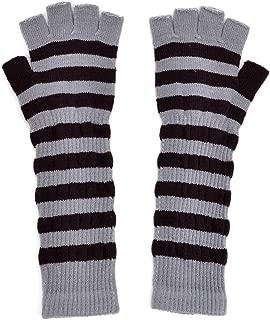 LL- Womens Warm Winter Arm Warmer Knit Fingerless Long Gloves 5 Half Fingers