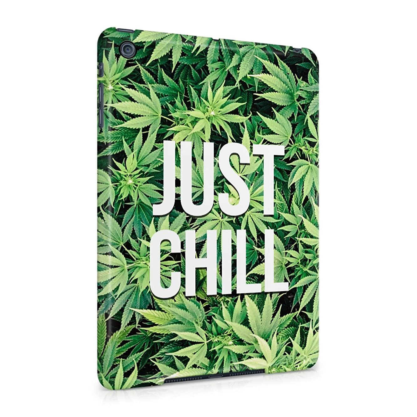Just Chill Stoner 420 Weed Pattern Mary Jane Plastic Tablet Snap On Back Case Cover Shell For iPad Mini