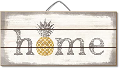 Highland Home Pineapple Slatted Pallet Wood Sign Made in The USA