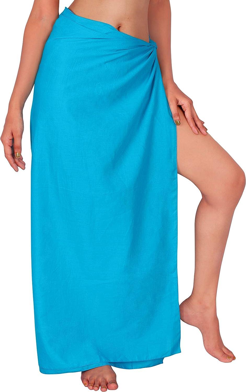 LA LEELA Women's Beach Cover Up Skir Swimsuit Bikini Genuine Wrap Sarong Max 46% OFF