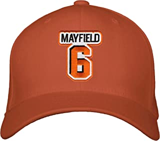 Baker Mayfield Hat - Cleveland Football Adjustable Cap (Orange)