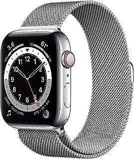 AppleWatch Series6 GPS+Cellular, Koperta 44mm, Stal Nierdzewna, Srebrna, Bransoleta Mediolańska w Kolorze Srebrnym