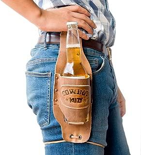 Hide & Drink Cowboy Buzy Beer Holster Handmade Bourbon Brown