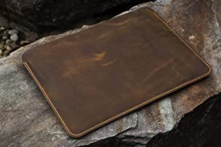 "Handmade Genuine Leather macbook sleeve case for 12 new macbook/vintage distressed leather 13"" macbook air/pro sleeve case MACX05S"