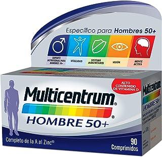 Multicentrum Hombre 50+ Complemento Alimenticio Multivitaminas con 13 Vitaminas y 11 Minerales, Alto Contenido de Vitamina...