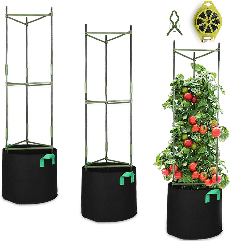 GROWNEER 3 Regular overseas dealer Packs Plant Cages Stake Tomato Assembled Garden