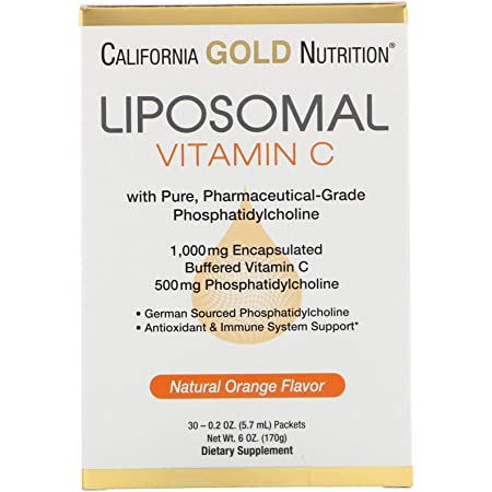 液状サプリメント リポソームビタミンC1000mg 30包(5.7 ml×30) California Gold Nutrition 海外直送 並行輸入