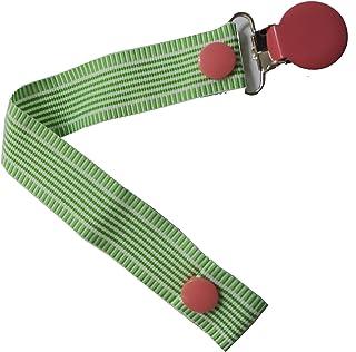 Pretty Paci Vertigo Stripe Pacifier Clip, Lime