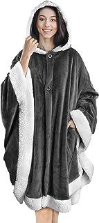 Pavilia Angel - Cobija tipo jorongo con vestiduras de sherpa