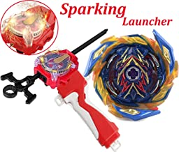 Bey Battle Burst Blade Evolution B-163 Booster Brave Valkyrie Ev'2A Red Sparking Left & Right Launcher Handle Starter Set Gaming Battling Tops Turbo GT God Bay Lr Bey launcher Spinning Toys Boy's Gift
