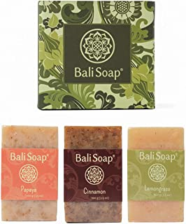 Bali Soap - Natural Soap Bar Gift Set, Face or Body Soap, Best for All Skin Types, For Women, Men & Teens, 3 pc Variety So...