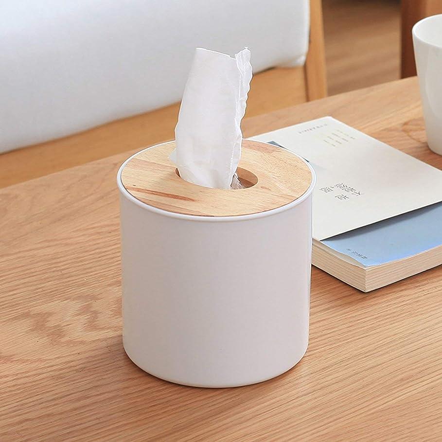 限りなく苦しむシンジケートティッシュケース ボックス 木製 和風 インテリア トイレットペーパー入れ 円柱