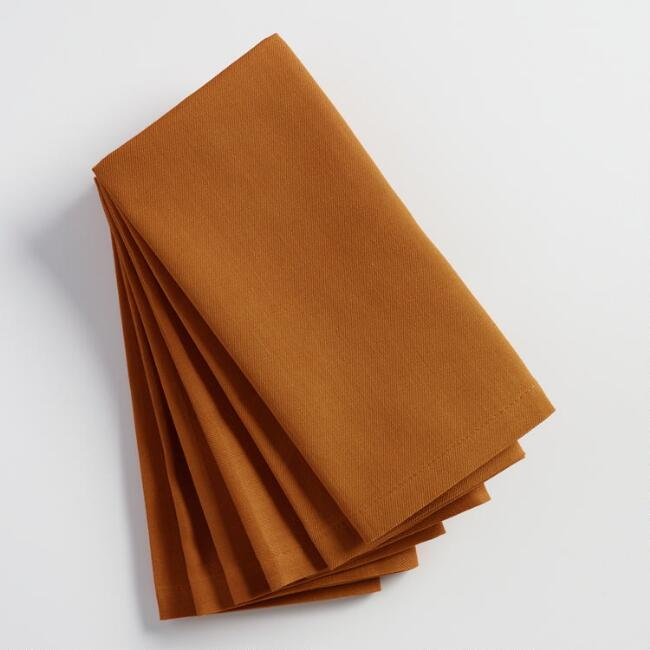 Nutmeg Brown Buffet Napkins Set of 6 | World Market