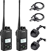 Two Way Radio Long Range Samcom FPCN10A 2 Watt Handheld Walkie Talkie for Adult, Business Radio with GROUP Call function, UHF Radio 400-470MHz, 20 CH, 3000mAh, Earpiece, Belt Clip(Pack of 2)