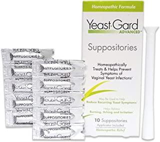 YeastGard Advanced Yeast Infection Feminine Suppositories, 10-Count