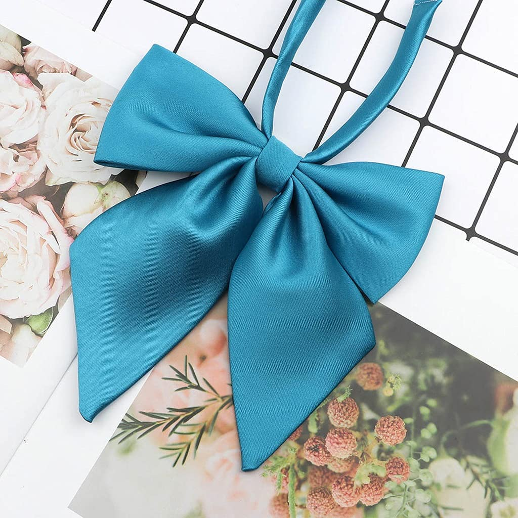 NJBYX Ladies Bow Tie Classic Shirts Bow Tie for Women Business Bowknot Student Solid Bow Ties Butterfly Girls Suits Bowties (Color : B)