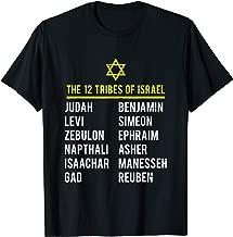 Hebrew Israelite T Shirt 12 Tribes of Israel Yah