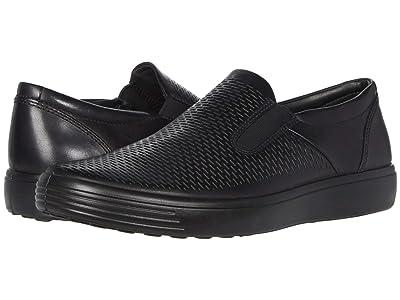 ECCO Soft 7 Premium Slip-On (Black) Men