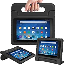 AVAWO Shock Proof Case for Fire HD 8 2017/2018 Tablet with Alexa - Kids Shockproof Convertible Handle Light Weight Protective Stand Case for Fire HD 8 inch (7th/8th Generation 2017/2018 Release),Black
