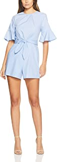 Oxford Women Ronnie Striped Playsuit, Blue
