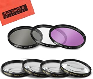 49mm 7PC Filter Set for Canon EF 50mm f/1.8 STM Lens - Includes 3 PC Filter Kit (UV-CPL-FLD) and 4PC Close Up Filter Set...