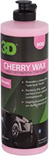 3D Cherry Wax - 16 oz. | Deep Gloss Wet Look Finish | Protects from Fall-Out and Sunlight | Recommended for Dark Vehicles | Made in USA | All Natural | No Harmful Chemicals