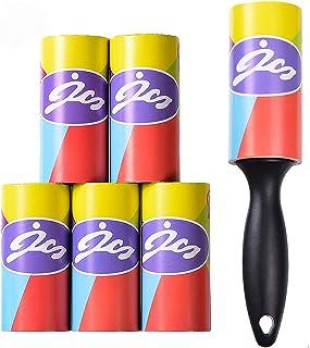 Airbin Rodillo de Pelusa, Lint Roller Quitapelusas de Adhesivo Manual Removedor de Polvo pegajoso Recolector Pelo Cepillo Limpiador del Polvo para Ropa,6 Rollos con 60 Hojas, 360 Hojas en Total