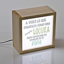 Lightbox con mensaje, caja de luz con palabras iluminadas, regalo ideal para una amiga