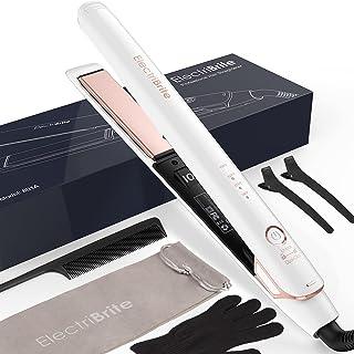 دستگاه صاف کننده مو ، تخت آهنی 2 در 1 دستگاه صاف کننده مو با صفحه های شناور سه بعدی سرامیک تورمالین یونی پیچش یا حلقه زنی با 4 درجه حرارت قابل تنظیم مناسب برای انواع مو ، گرم شدن سریع ، سفید