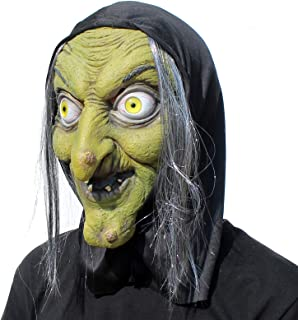 PartyHop - Old Woman Witch Mask - Halloween Scary Horror Cosplay Costume