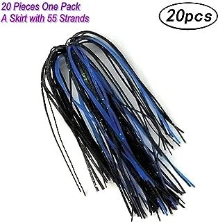 Wtrees #2701 Best Fishing Jigs or Spinnerbaits Skirts Kit Set Bulk for Bass Fishing