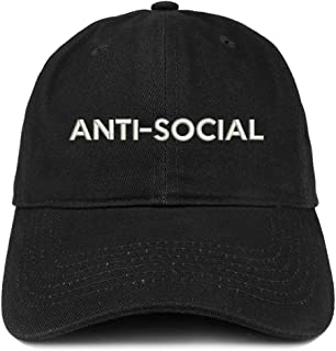 Anti Social Embroidered Brushed Cotton Dad Hat Cap
