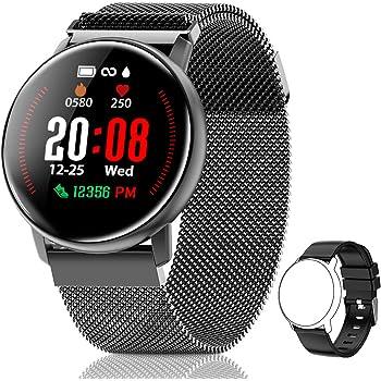 CanMixs Smartwatch, CM12 Reloj Inteligente Pulsera de Actividad Impermeable IP67 Pulsera Inteligente con Podómetro, Monitor de Sueño, SMS Notificación etc para Hombre Mujer Niños iOS y Android: Amazon.es: Electrónica